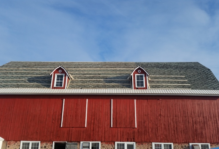 Cecil Barn Roofing in Progress