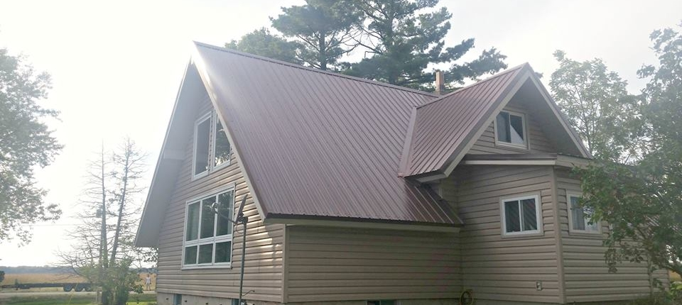 Steel Panel Residential Roof in Multiple Angles in Wisconsin