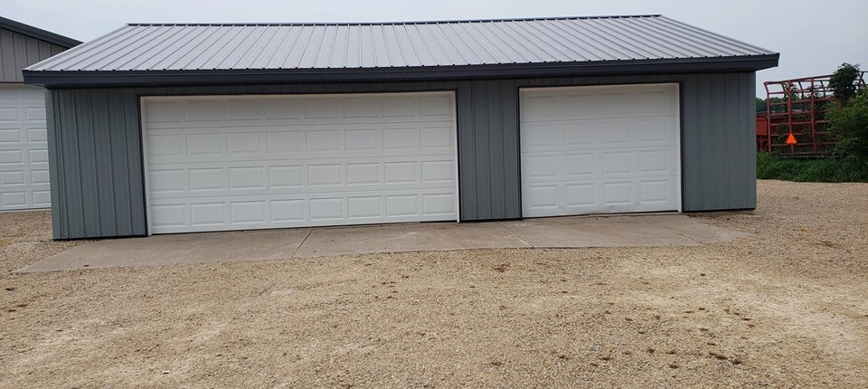 Manawa Garage Project with Steel Roofing and Sidewalls Plus Soffit and Fascia