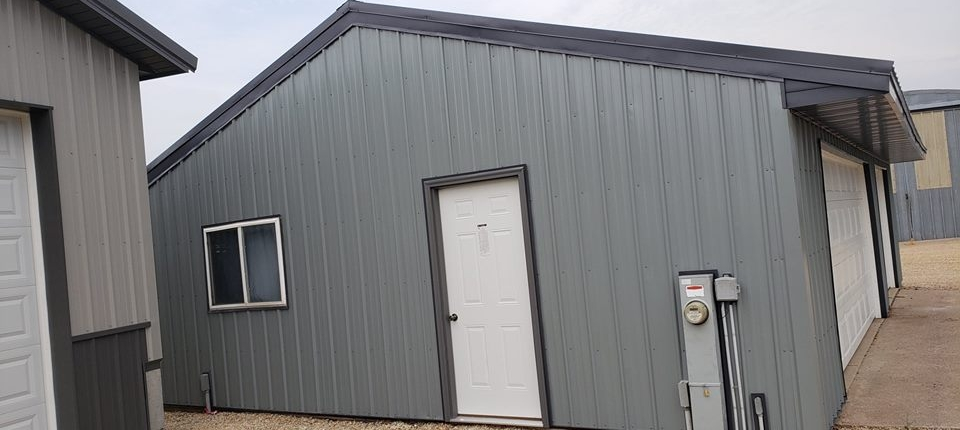 Manawa Garage with Steel Roofing and Sidewalls Plus Soffit and Fascia.