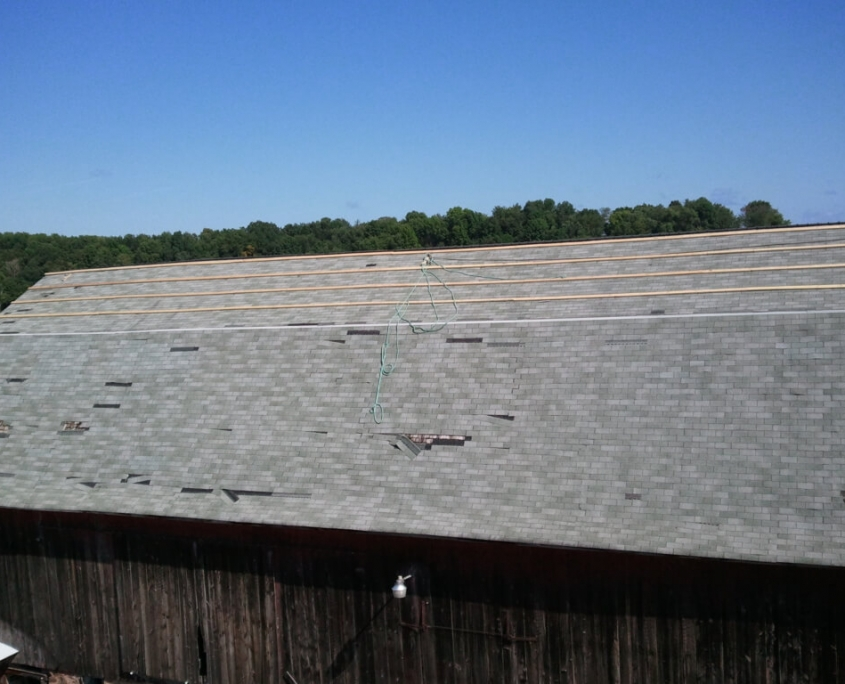 Marion Wisconsin Barn Roof Before