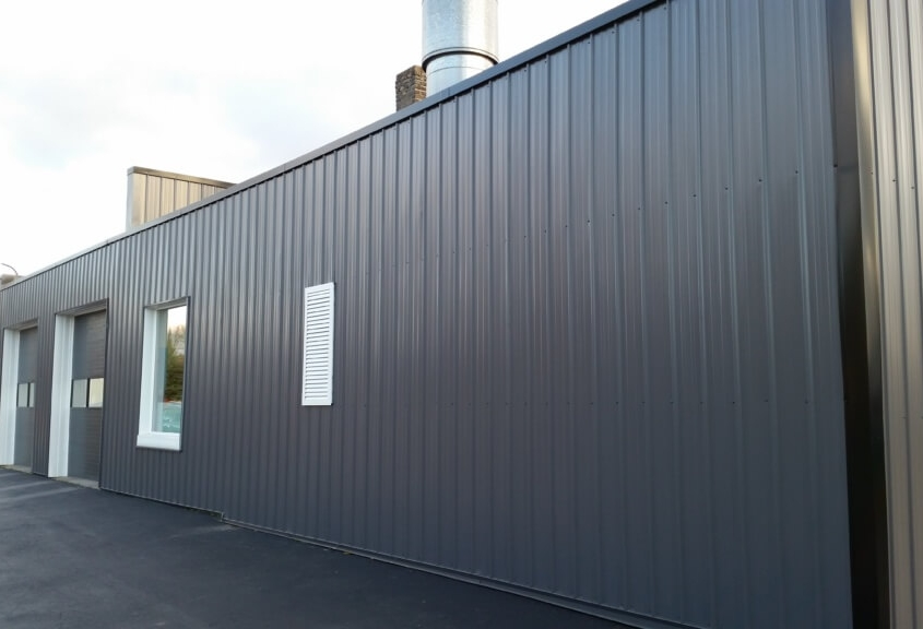 New London Commercial Building After with GrandRib 3 Panel