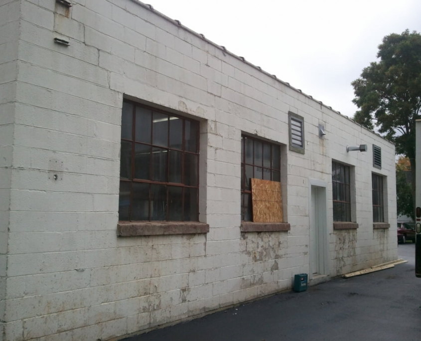 New London Commercial Building Exterior Before