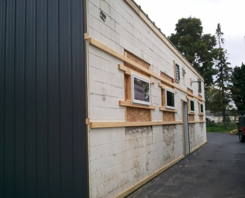 New London Commercial Building Exterior in Progress