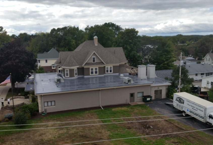 New London Funeral Home Duro-Last in Charcoal Grey