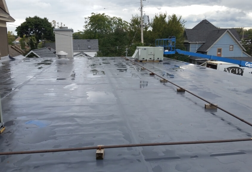 New London Funeral Home Roof After Transitions