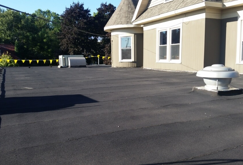 New London Funeral Home with Duro-Last in Charcoal Grey
