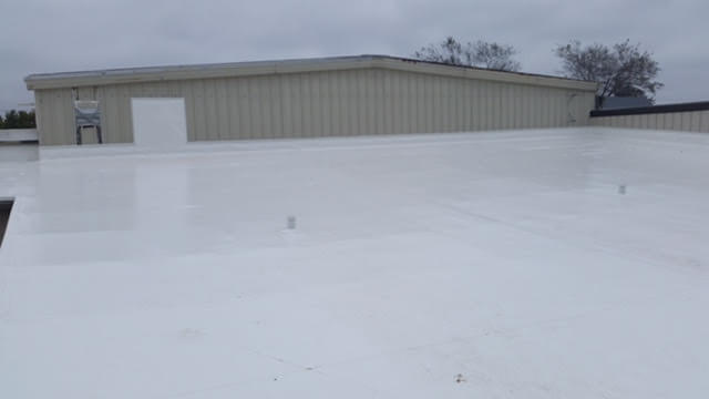 Shawano Retail Building Roof After Duro-Last in White