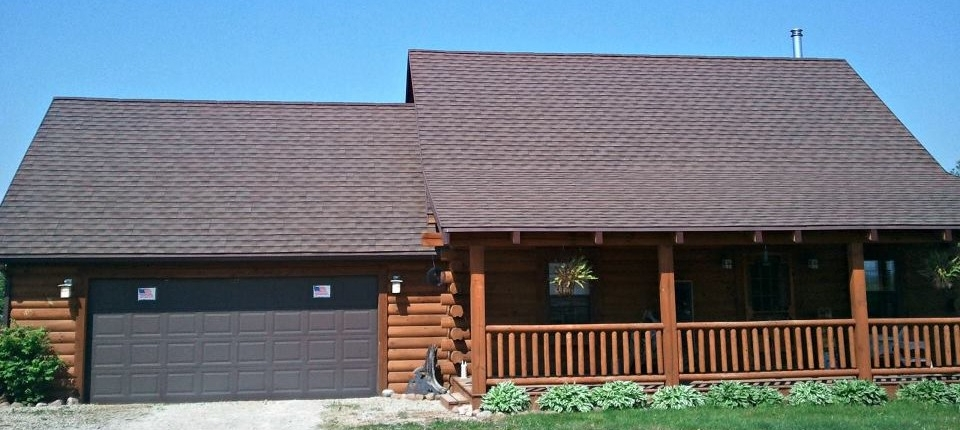 Sidewalk View of Central Wisconsin House with Shingle Roof System