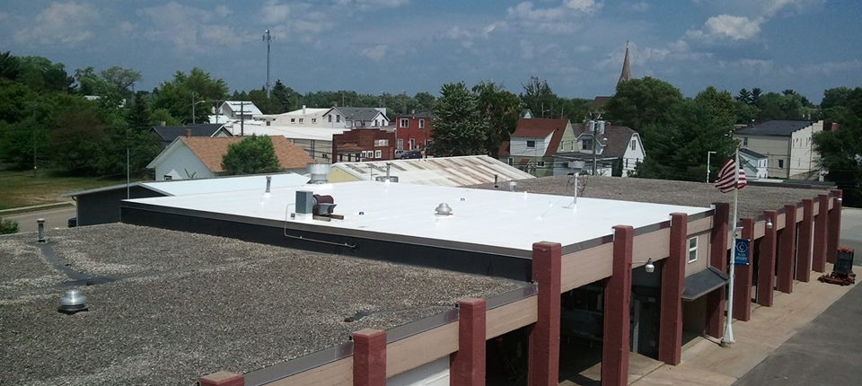 White Duro-Last Flat Roof System