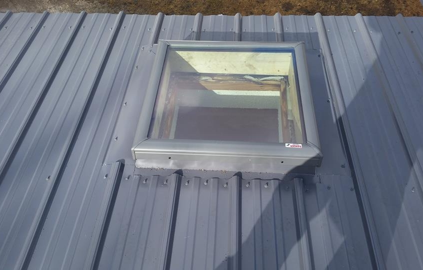 Window in Metal Roof