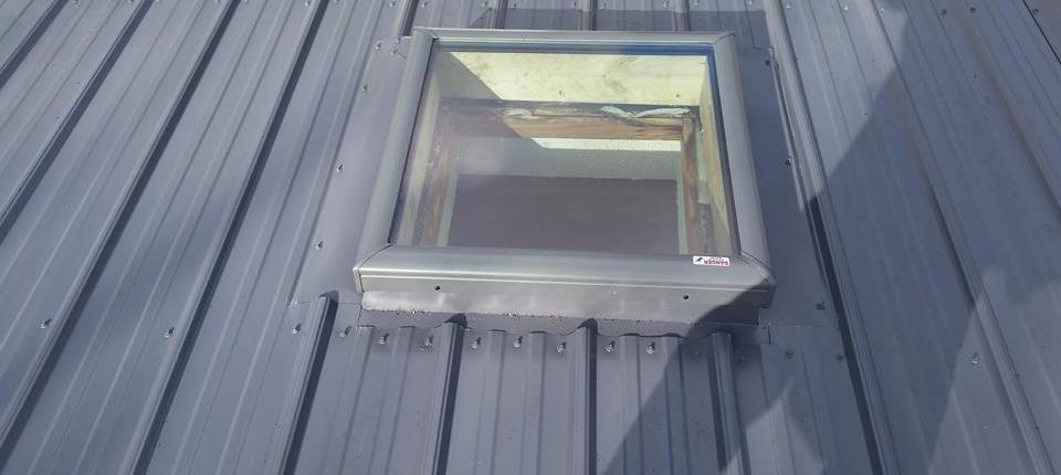 Window in Metal Roof