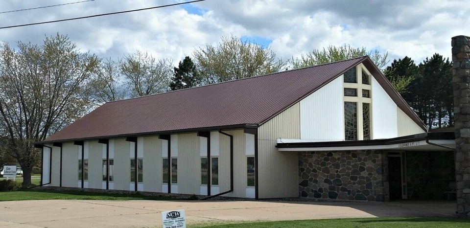 Wisconsin Church Roof with GrandRib 3 Panel Installed by NCW