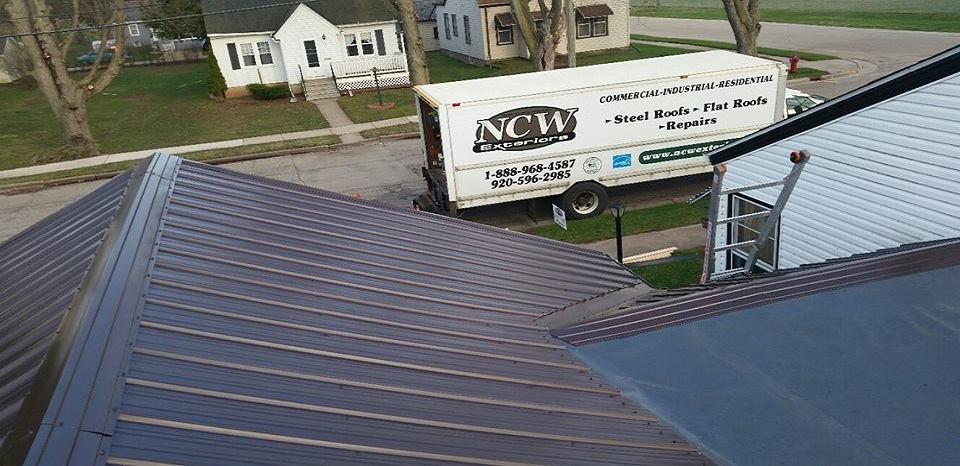 Wisconsin Residential Roof with GrandRib 3 Steel Panel Installed by NCW